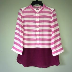 JCP Sheer Striped Blouse